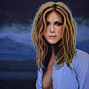 Jennifer Aniston Painting Art Print