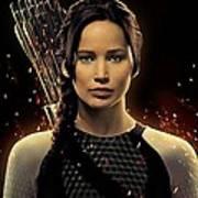 Jennifer Lawrence As Katniss Everdeen Art Print