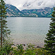 Jenny Lake In Grand Tetons National Park-wyoming  Art Print