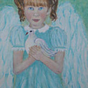 Jenny Little Angel Of Peace And Joy Art Print by The Art With A Heart By Charlotte Phillips