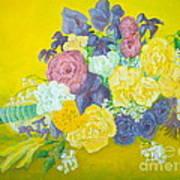 Jen's Wedding Bouquet Art Print by Paul Galante