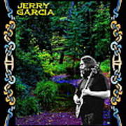 Jerry At Psychedelic Creek Art Print