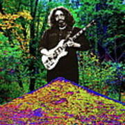 Jerry At The Cosmic Pyramid In The Woods  Art Print