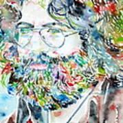 Jerry Garcia Watercolor Portrait.2 Art Print