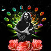 Jerry Spacepods Ufo Roses 1 Art Print