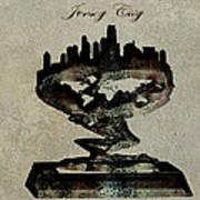 Jersey City Skyline Art Print