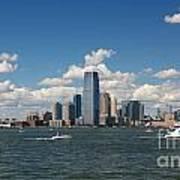 Jersey City Skyline From Harbor Art Print