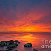 Jersey Shores Fire In The Sky Version 2 Art Print