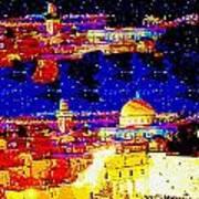 Jerusalem Maala Ve Mata Art Print