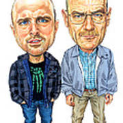 Jesse Pinkman And Walter White Art Print