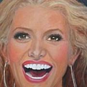 Jessica Simpson Art Print by Shirl Theis
