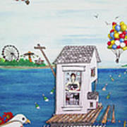 Jessica's Houseboat Art Print