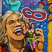 Jester Statue At The Fair Art Print