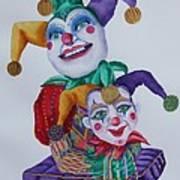 Jesters On Bourbon Street  Art Print