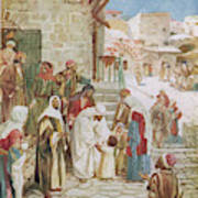 Jesus Advises His Disciples To  'suffer Art Print