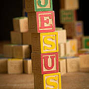Jesus - Alphabet Blocks Art Print