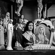 Jesus And Mary At The Curio Shop Print by Bob Orsillo