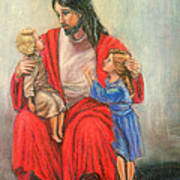 Jesus And The Children Art Print