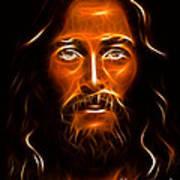Brilliant Jesus Christ Portrait Art Print