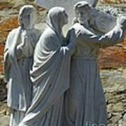 Jesus Carrying Cross Art Print