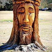 Jesus Carving Art Print