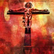 Jesus Christ On The Cross Art Print