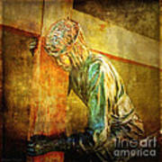 Jesus Falls Via Dolorosa 3 Art Print by Lianne Schneider