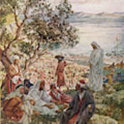 Jesus Feeds Five Thousand  People Art Print