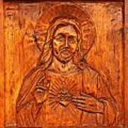 Jesus From A Door Panel At Santuario De Chimayo Art Print