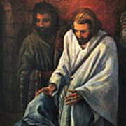 Jesus Healing Beggar Art Print