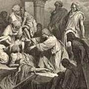 Jesus Healing The Sick Art Print