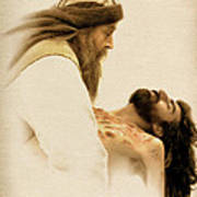 Jesus Laid To Rest Art Print by Ray Downing