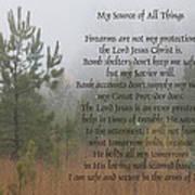 Jesus My Source Of All Things Art Print