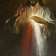 Jesus Of Divine Mercy Art Print
