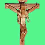 Jesus On The Cross In Mexico 1925 Art Print