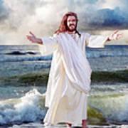 Jesus On The Sea Art Print