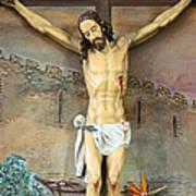 Jesus Statue At Latin Church In Taybeh Art Print