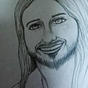 Jesus Sweet Smile Art Print