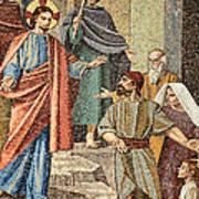 Jesus Visit Art Print