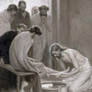 Jesus Washing The Feet Of His Disciples Art Print