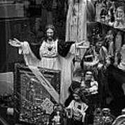 Jesus With Arms Wide Open Religious Figurines In A Shop Window In Toronto Art Print