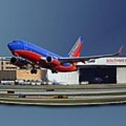 Jet Chicago Airplanes 12 Out Of Bounds Art Print