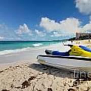 Jet Ski On The Beach At Atlantis Resort Print by Amy Cicconi