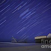 Jet Star Trails Print by Amanda Stevens