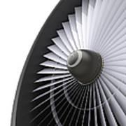 Jet Turbine Art Print