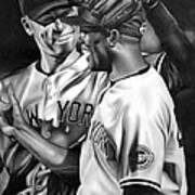 Jeter And Mariano Art Print by Jerry Winick