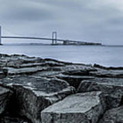 Jetty At Fort Totten Art Print