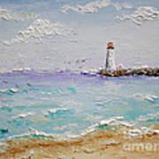 Jetty Lighthouse Art Print