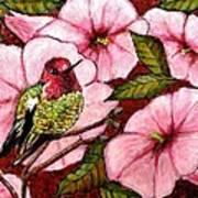 Jewel Among Blooms Art Print