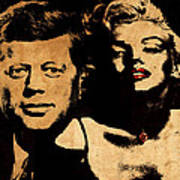 Jfk And Marilyn Art Print